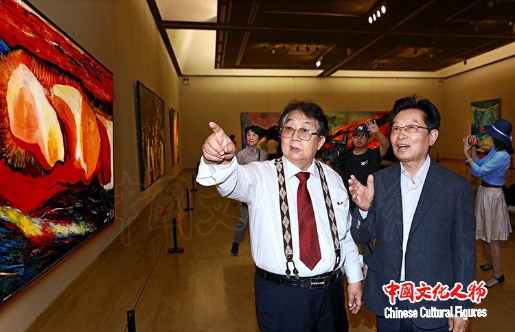 雕琢复朴―蔡居抽象画展在中国美术馆成功举办受到社会各界高度赞誉