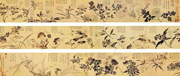 张伯驹收藏的明周之冕《百花图》卷欣赏