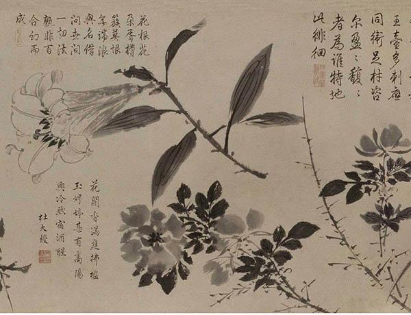 张伯驹收藏的明周之冕《百花图》卷欣赏【16】