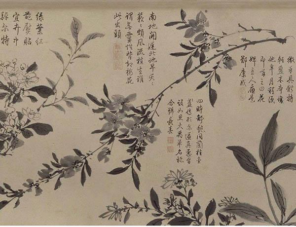 张伯驹收藏的明周之冕《百花图》卷欣赏【6】