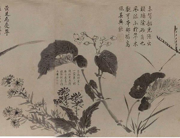 张伯驹收藏的明周之冕《百花图》卷欣赏【17】