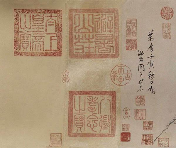 张伯驹收藏的明周之冕《百花图》卷欣赏【14】