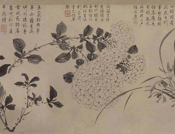 张伯驹收藏的明周之冕《百花图》卷欣赏【4】