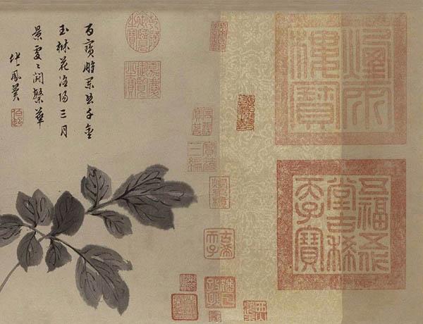 张伯驹收藏的明周之冕《百花图》卷欣赏【2】